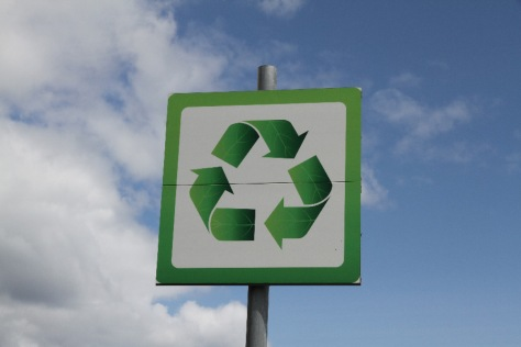 Recycling-Schild