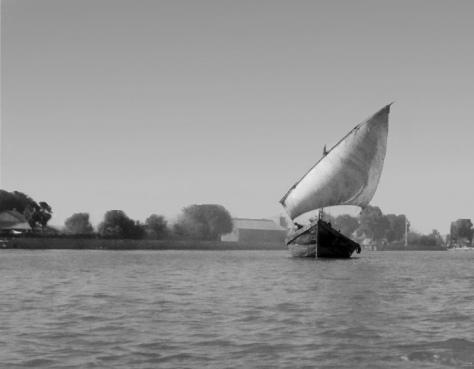 Dau-Segelschiff auf dem Schatt-al-Arab